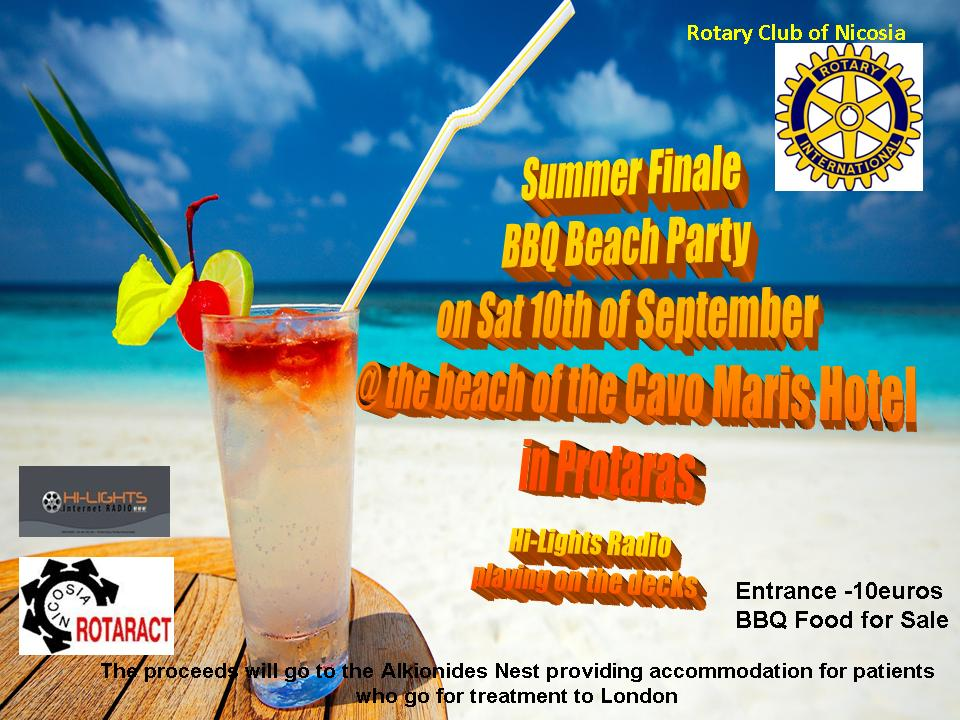 Summer Finale BBQ Beach Party @ the beach of the Cavo Maris Hotel